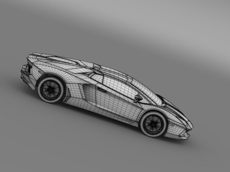 lamborghini aventador lp 700 4 roadster 3d model 3ds max fbx c4d lwo ma mb hrc xsi obj 160676