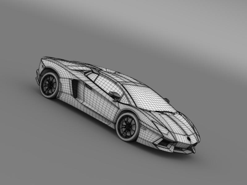 lamborghini aventador lp 700 4 roadster 3d model 3ds max fbx c4d lwo ma mb hrc xsi obj 160677