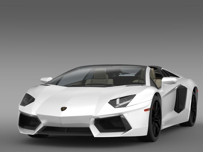 lamborghini aventador lp 700 4 roadster us spec 3d model 3ds max fbx c4d lwo ma mb hrc xsi obj 160803