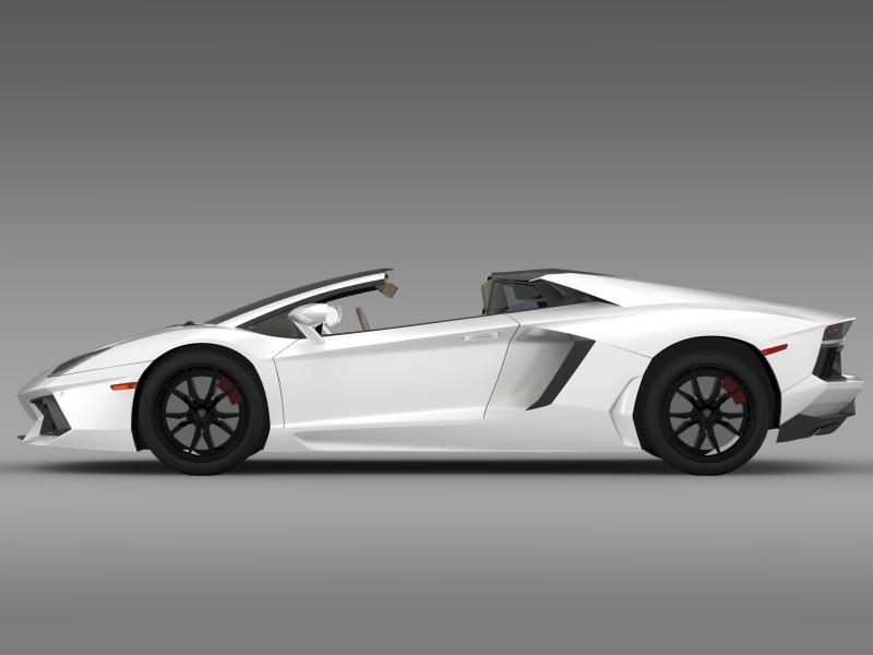 lamborghini aventador lp 700 4 roadster us spec 3d model 3ds max fbx c4d lwo ma mb hrc xsi obj 160806