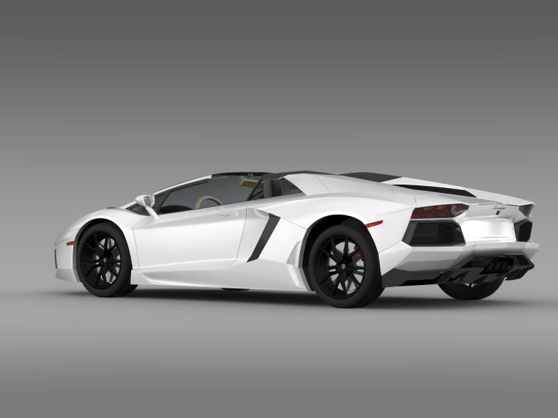 lamborghini aventador lp 700 4 roadster us spec 3d model 3ds max fbx c4d lwo ma mb hrc xsi obj 160807