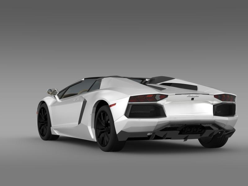lamborghini aventador lp 700 4 roadster us spec 3d model 3ds max fbx c4d lwo ma mb hrc xsi obj 160808