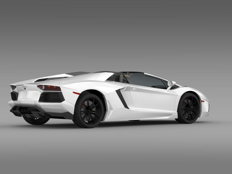 lamborghini aventador lp 700 4 roadster us spec 3d model 3ds max fbx c4d lwo ma mb hrc xsi obj 160811