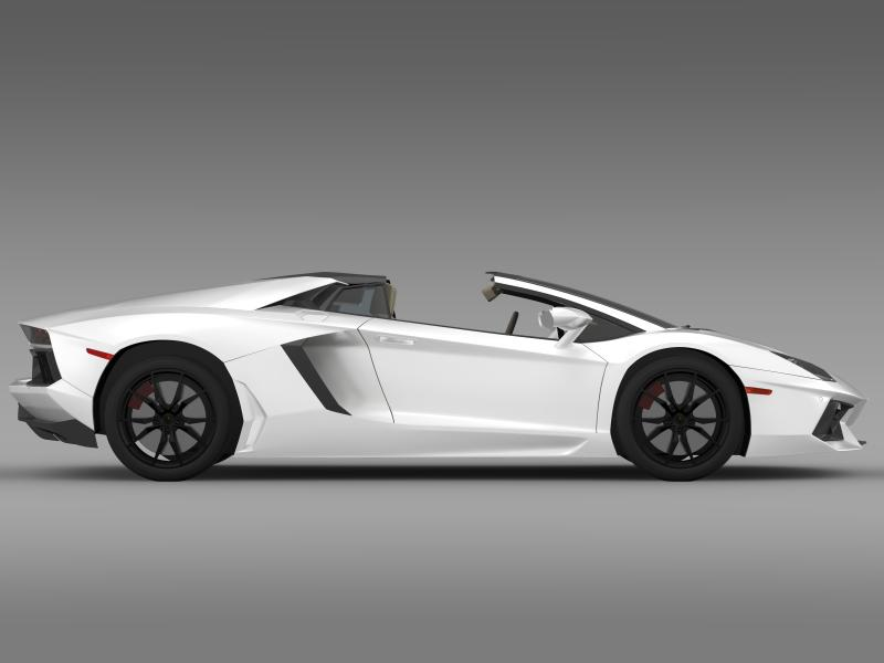 lamborghini aventador lp 700 4 roadster us spec 3d model 3ds max fbx c4d lwo ma mb hrc xsi obj 160812