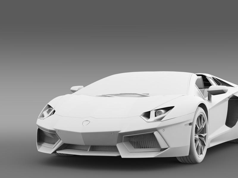 lamborghini aventador lp 700 4 roadster us spec 3d model 3ds max fbx c4d lwo ma mb hrc xsi obj 160817