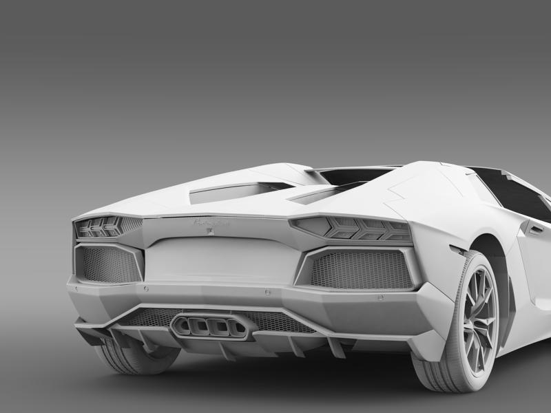 lamborghini aventador lp 700 4 roadster us spec 3d model 3ds max fbx c4d lwo ma mb hrc xsi obj 160818