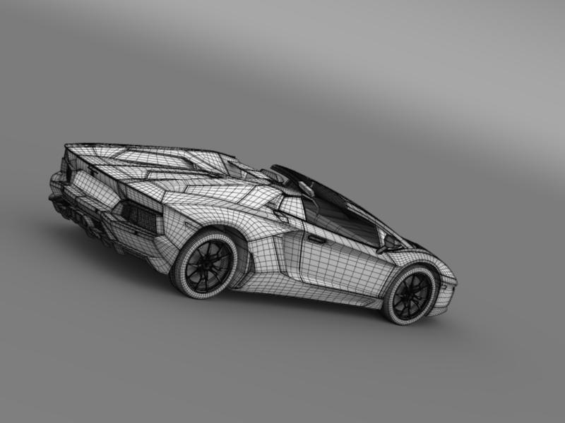 lamborghini aventador lp 700 4 roadster us spec 3d model 3ds max fbx c4d lwo ma mb hrc xsi obj 160819