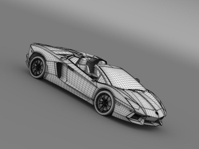 lamborghini aventador lp 700 4 roadster us spec 3d model 3ds max fbx c4d lwo ma mb hrc xsi obj 160821