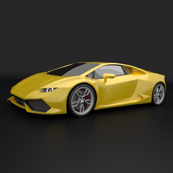 lamborghini huracan racing car restyled 3d model 3ds fbx blend dae obj 162169