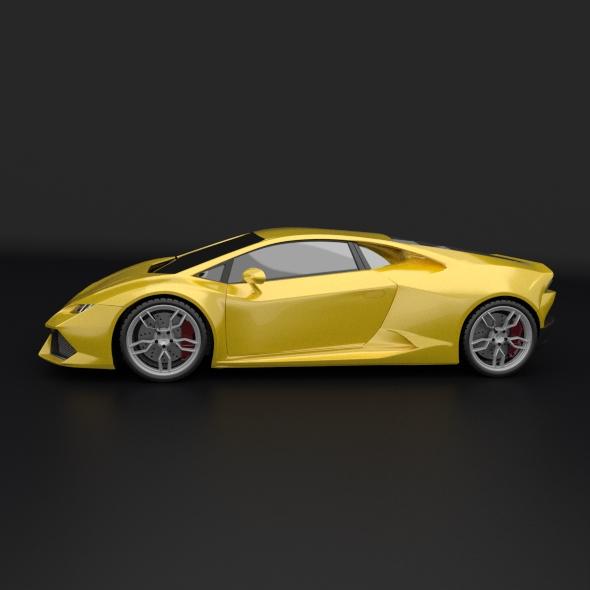 lamborghini huracan racing car restyled 3d model 3ds fbx blend dae obj 162170