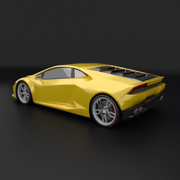 lamborghini huracan racing car restyled 3d model 3ds fbx blend dae obj 162171