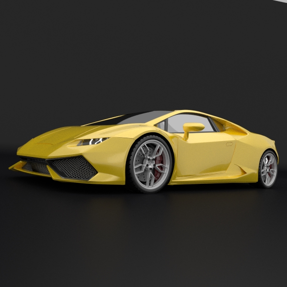 lamborghini huracan racing car restyled 3d model 3ds fbx blend dae obj 162172