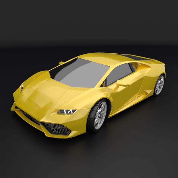 lamborghini huracan racing car restyled 3d model 3ds fbx blend dae obj 162173
