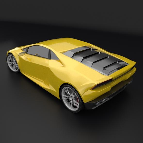 lamborghini huracan racing car restyled 3d model 3ds fbx blend dae obj 162174