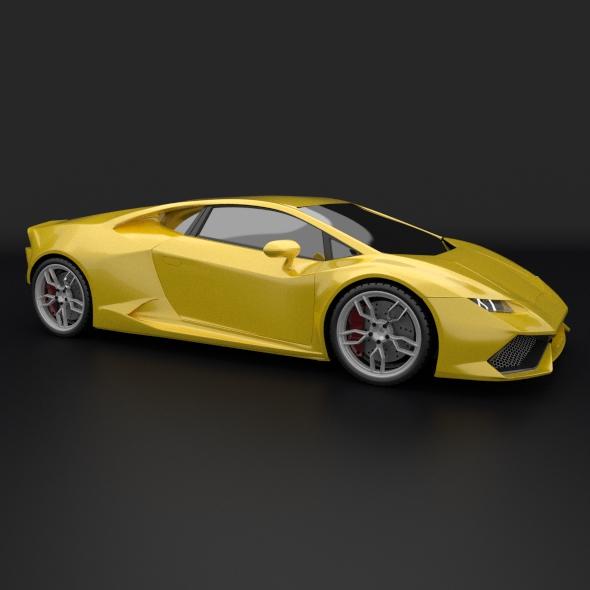 lamborghini huracan racing car restyled 3d model 3ds fbx blend dae obj 162176