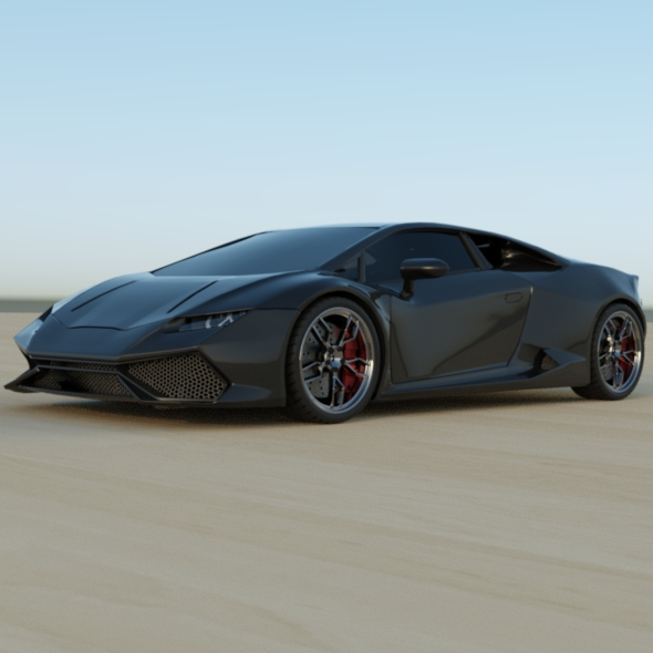 lamborghini huracan racing car restyled 3d model 3ds fbx blend dae obj 162177