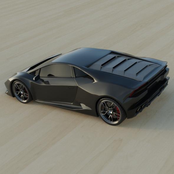 lamborghini huracan racing car restyled 3d model 3ds fbx blend dae obj 162178