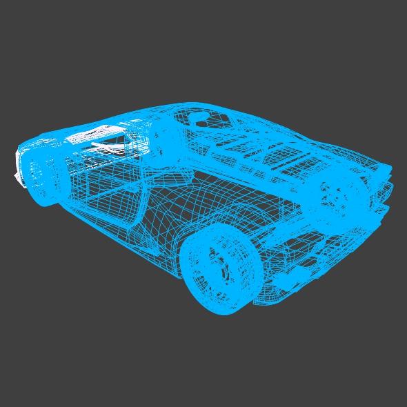 lamborghini huracan racing car restyled 3d model 3ds fbx blend dae obj 162179
