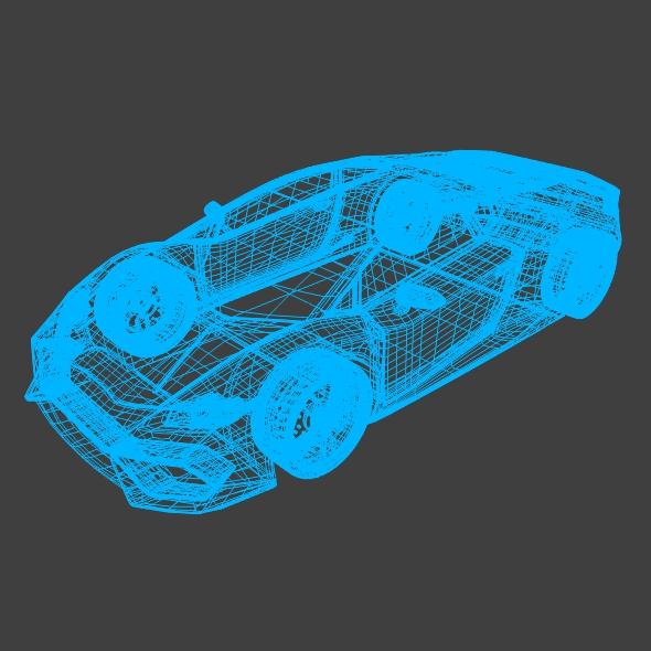 lamborghini huracan racing car restyled 3d model 3ds fbx blend dae obj 162180