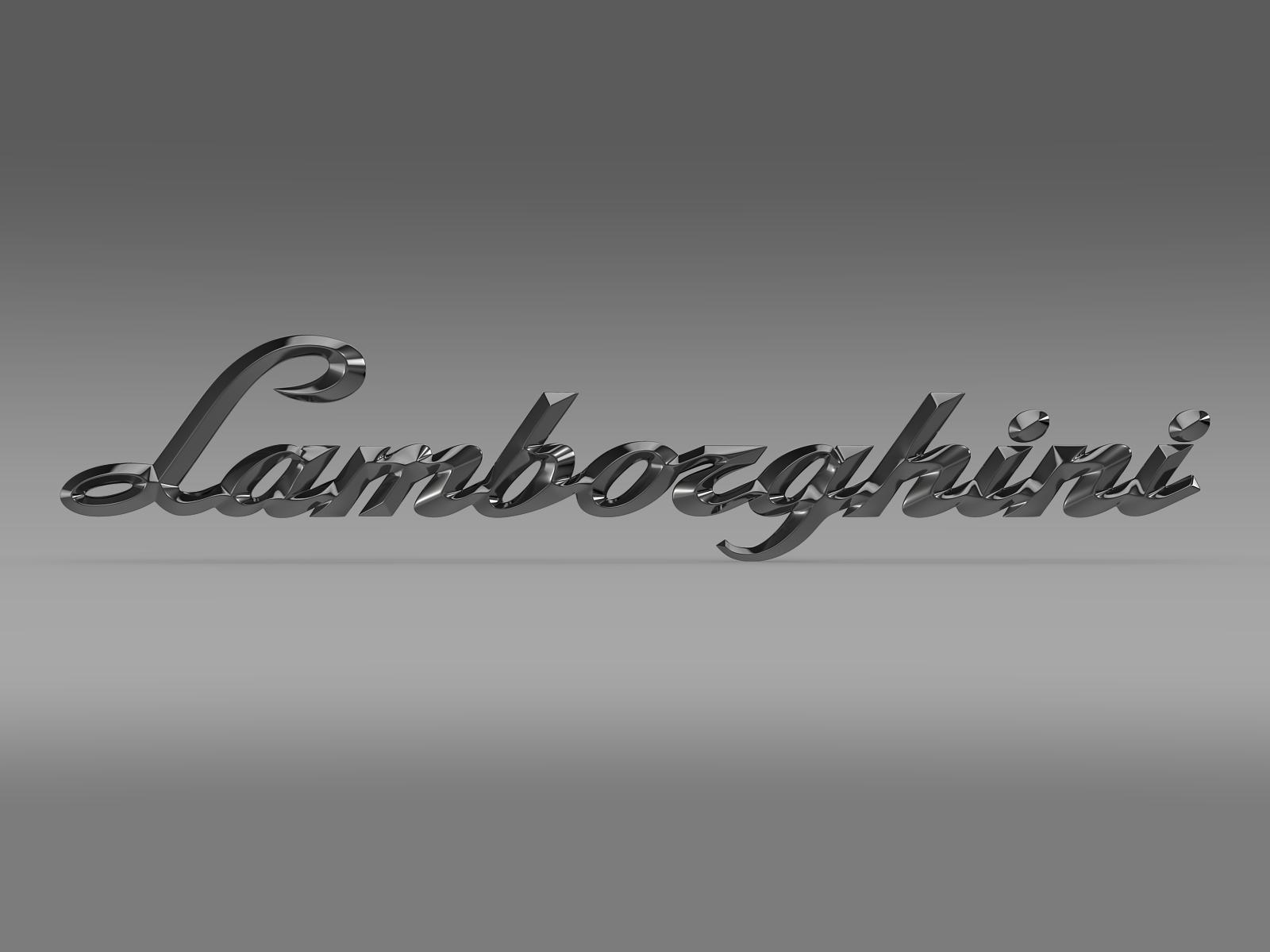 logo lamborghini - llythyrau 3d model 3ds max fbx c4d ar gyfer yr hrc xsi obj 163048