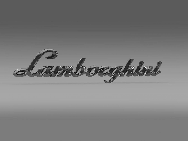 lamborghini logo – letters 3d model 3ds max fbx c4d lwo ma mb hrc xsi obj 163049