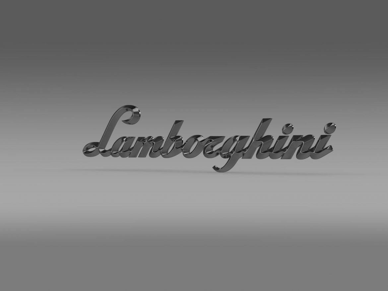 lamborghini logo – letters 3d model 3ds max fbx c4d lwo ma mb hrc xsi obj 163050