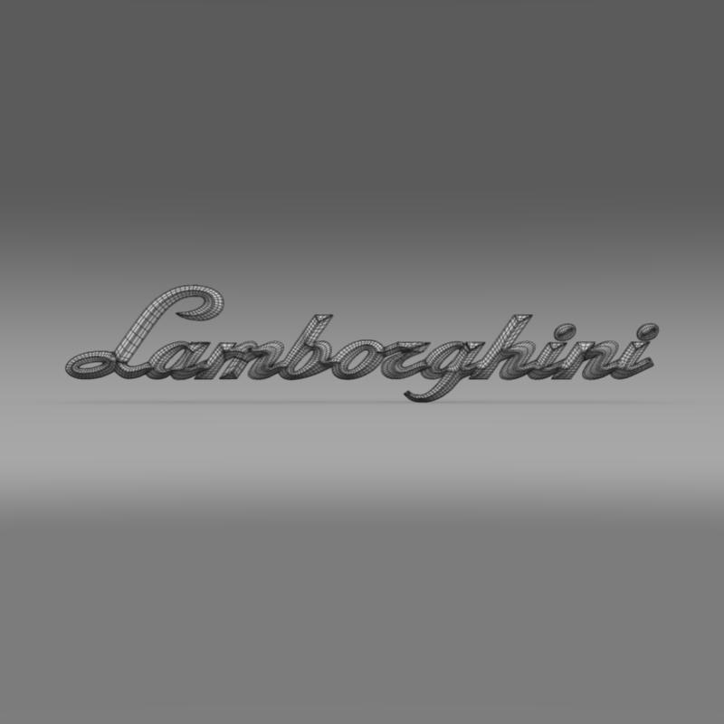 lamborghini logo – letters 3d model 3ds max fbx c4d lwo ma mb hrc xsi obj 163054