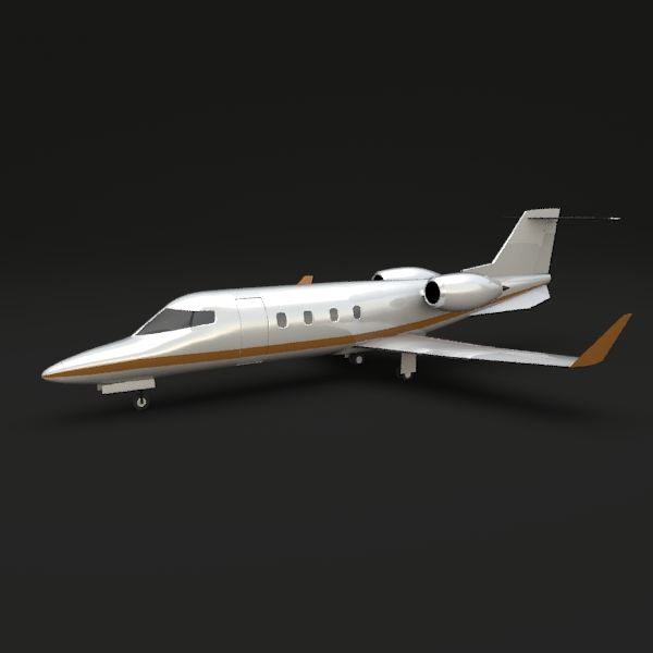 Learjet 54-55-56 model 3d de llarg recte 3ds fbx blend lwo obj 141858