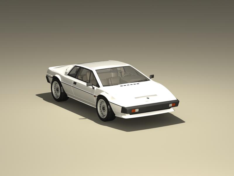lotus esprit s3 3d model 3ds max fbx obj 147910