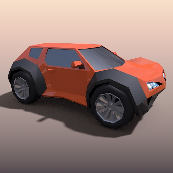 lowpoly crossover concept vehicle 3d model fbx blend dae lwo obj 163440