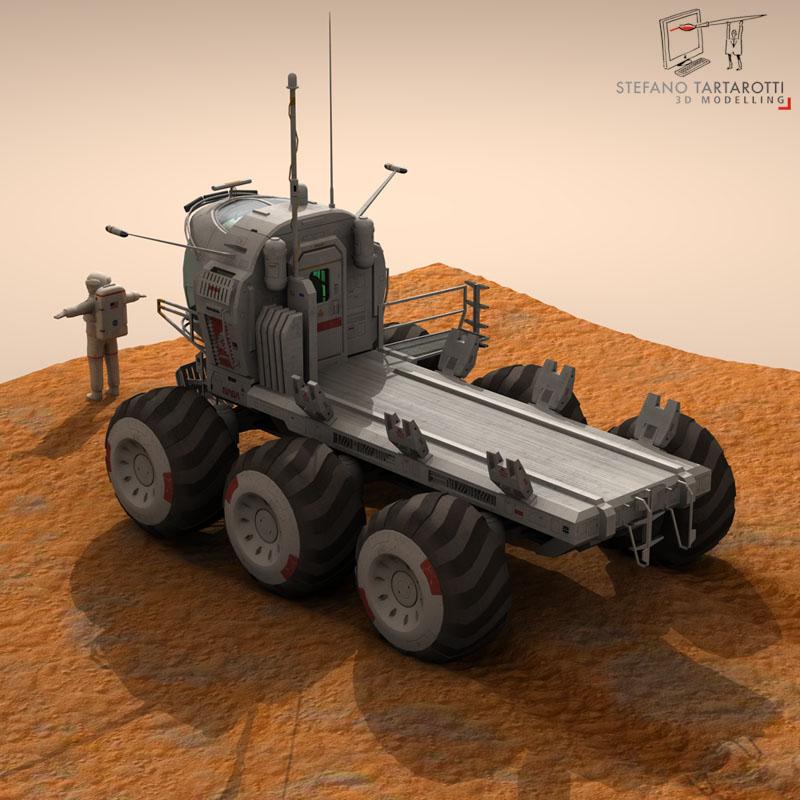 lunar tanker truck & astronaut 3d model 3ds dxf fbx c4d obj 142155