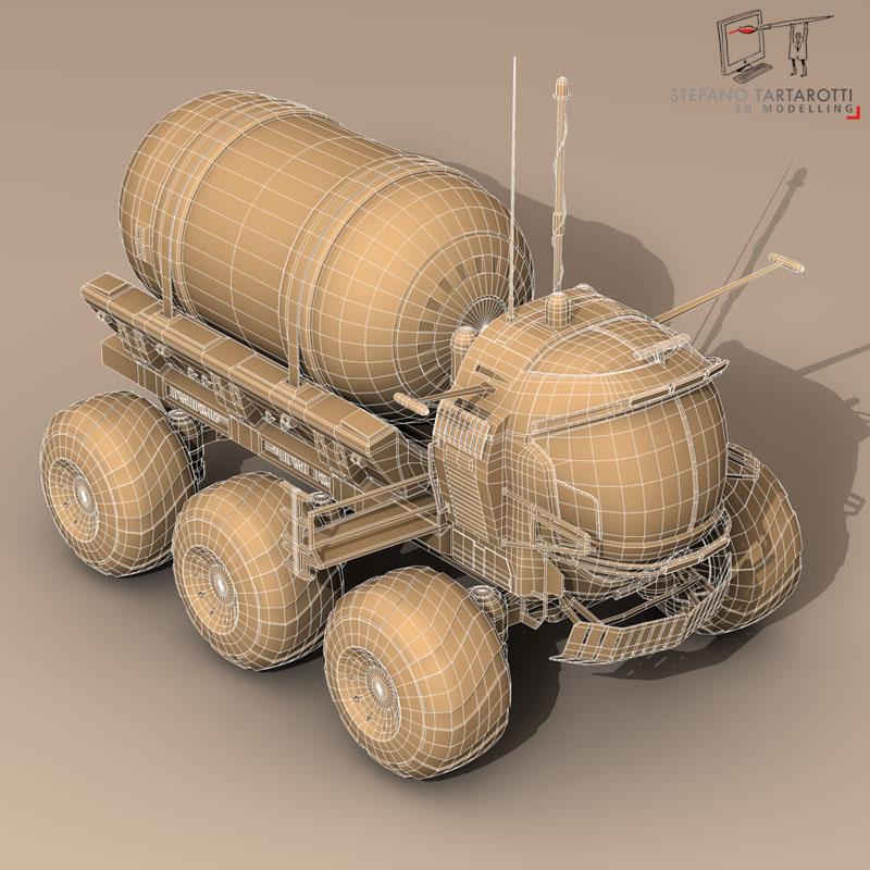 lunar tanker truck & astronaut 3d model 3ds dxf fbx c4d obj 142160