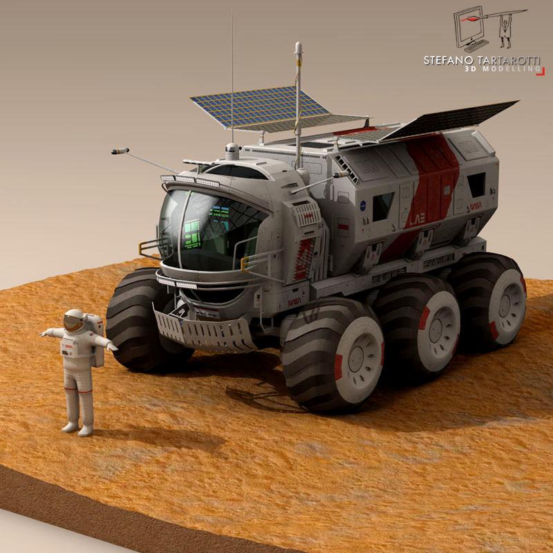lunar vehicle 3d model 3ds dxf fbx c4d obj 142119
