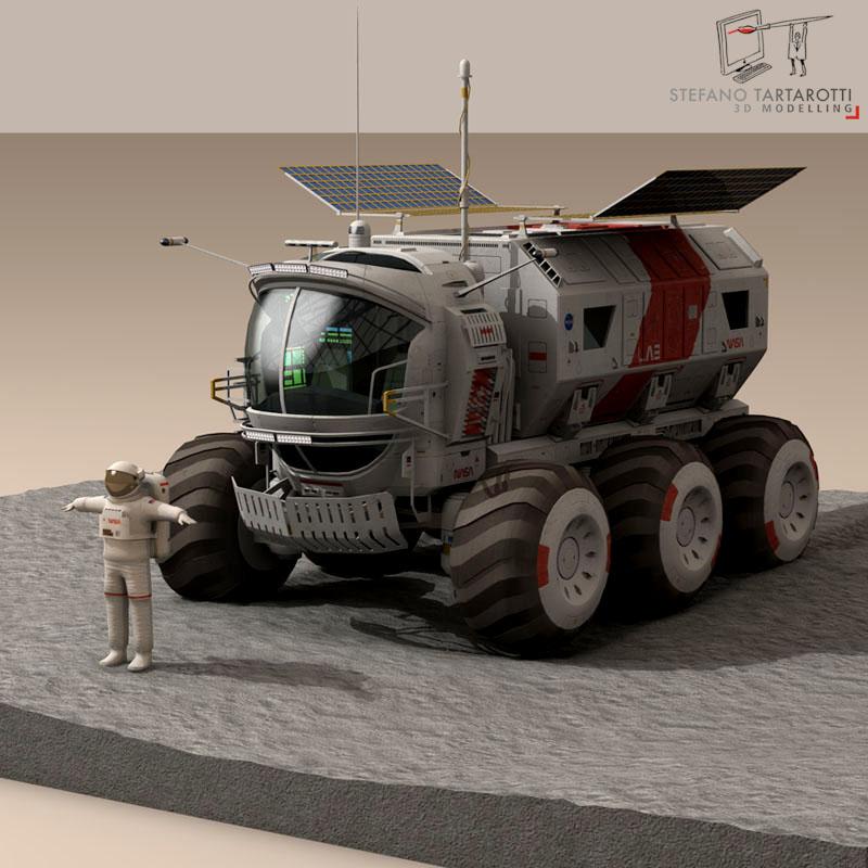 lunar vehicle 3d model 3ds dxf fbx c4d obj 142121