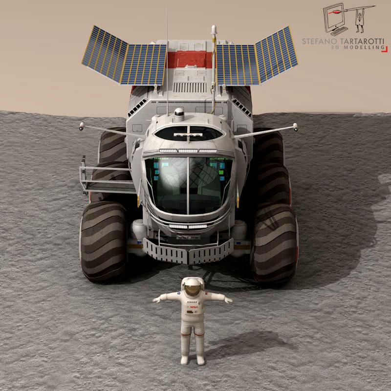 lunar vehicle 3d model 3ds dxf fbx c4d obj 142122