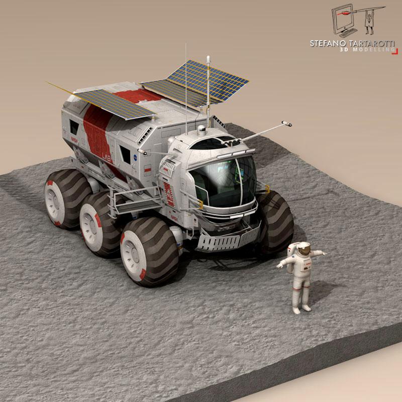 lunar vehicle 3d model 3ds dxf fbx c4d obj 142123