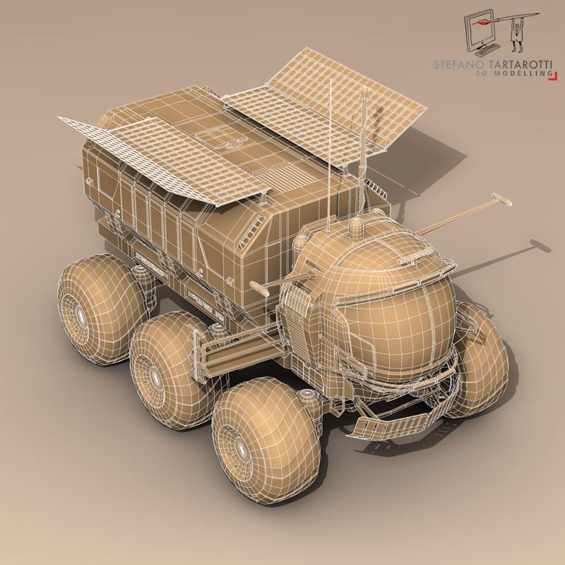 lunar vehicle 3d model 3ds dxf fbx c4d obj 142126