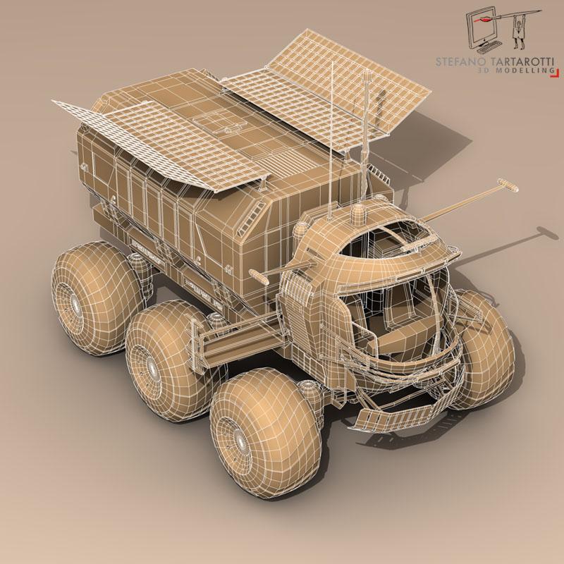 lunar vehicle 3d model 3ds dxf fbx c4d obj 142127