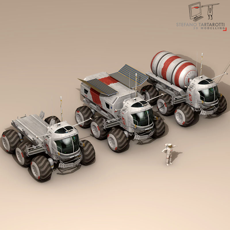 lunar vehicles collection 3d model 3ds dxf fbx c4d obj 142101