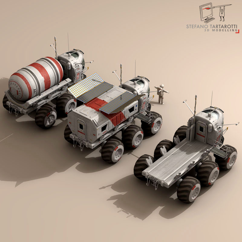lunar vehicles collection 3d model 3ds dxf fbx c4d obj 142102