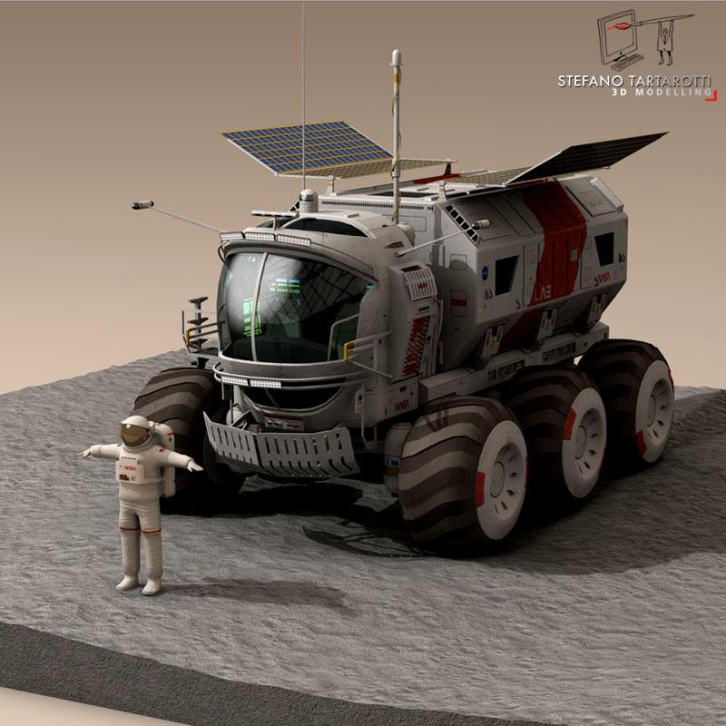lunar vehicles collection 3d model 3ds dxf fbx c4d obj 142103