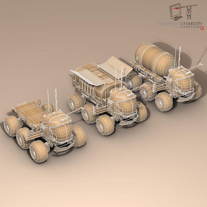 lunar vehicles collection 3d model 3ds dxf fbx c4d obj 142109