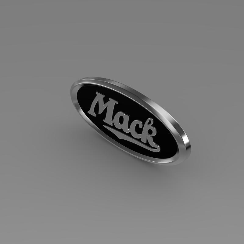logo mack model 3d 3ds max fbx c4d am ychydig o hrc xsi obj
