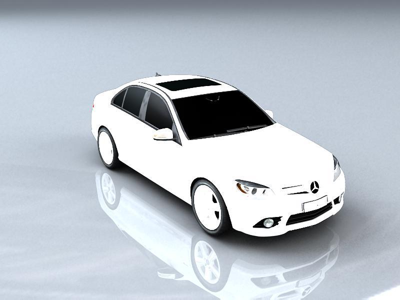 mercedes-benz c180 cgi classic special 2011 3d model max 147856