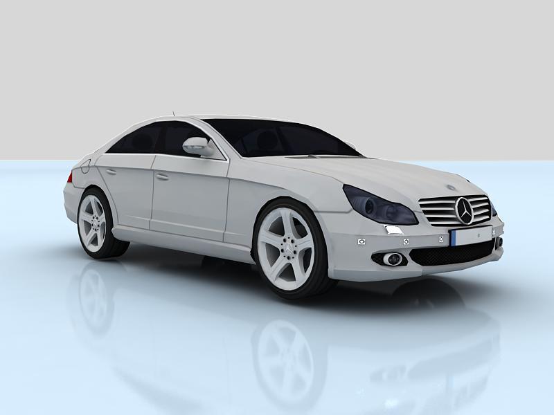 mercedes-benz cls500 3d model max 147882