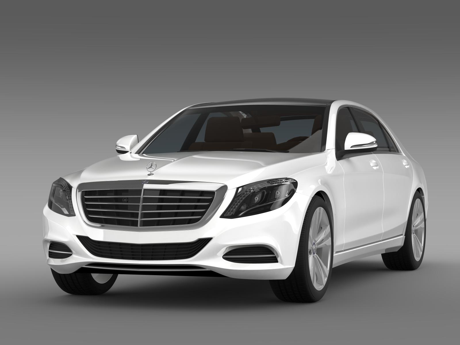 mercedes benz s 350 bluetec w222 2013 3d model. Black Bedroom Furniture Sets. Home Design Ideas