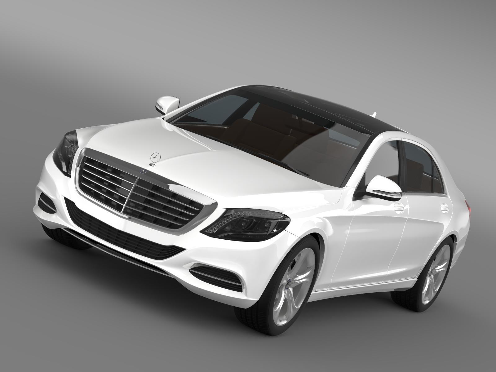 mercedes benz s 400 hybrid w222 2013 3d model 3ds max fbx c4d lwo ma mb hrc xsi 164187