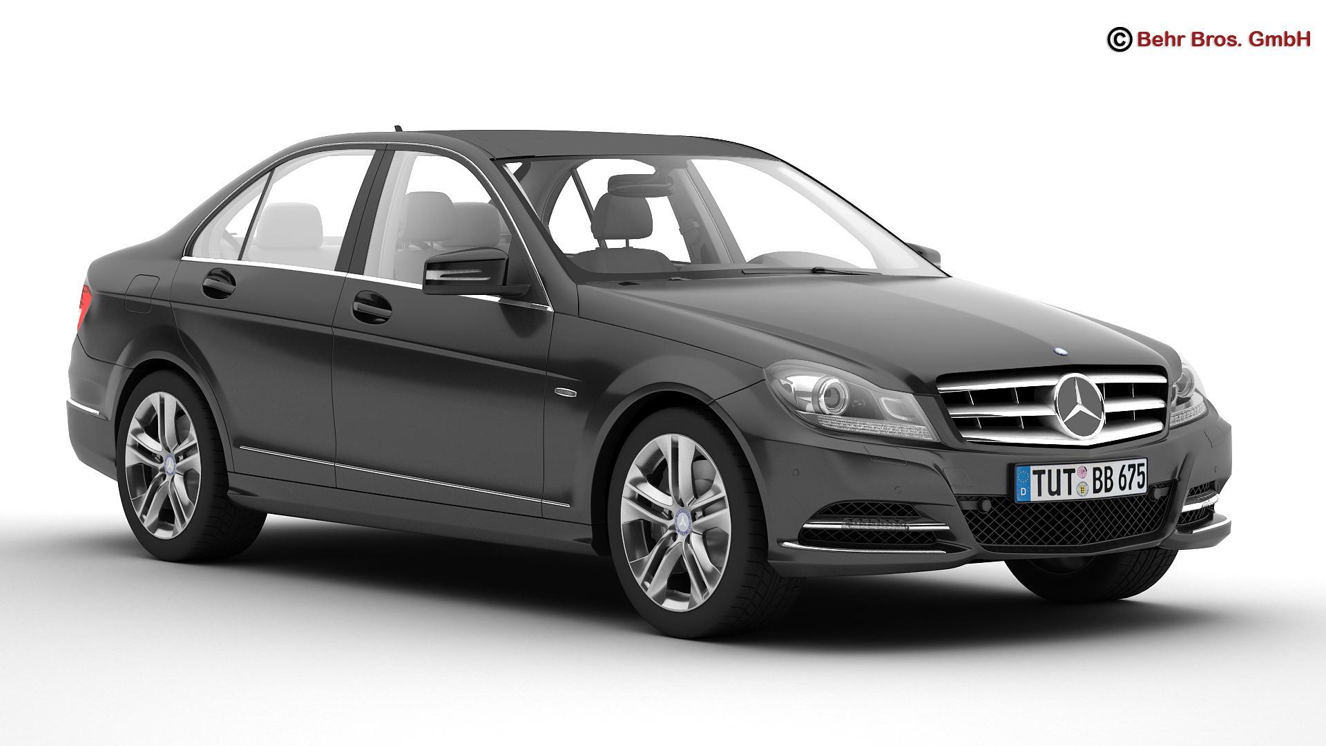 mercedes c class 2012 3d model 3ds max fbx c4d lwo ma mb obj 160551