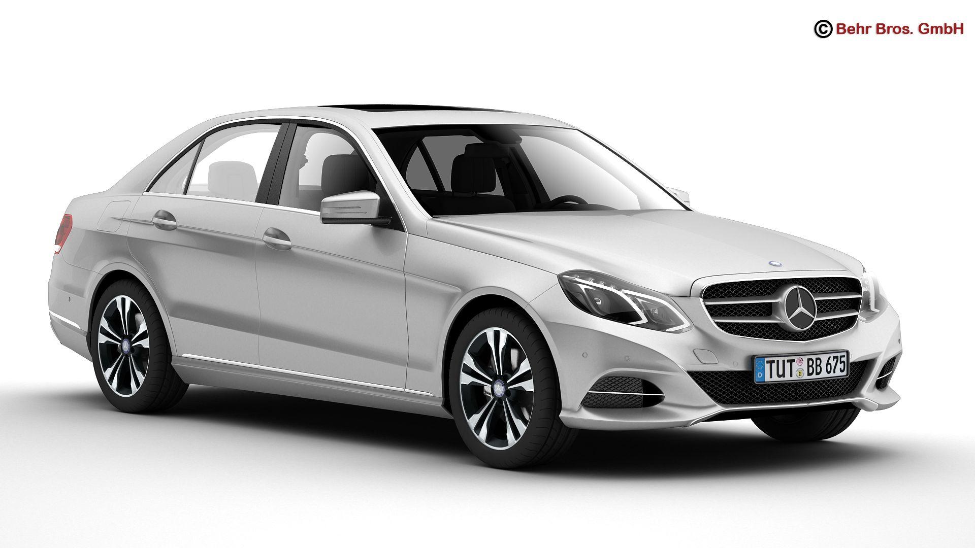 mercedes e class 2014 3d model 3ds max fbx c4d lwo ma mb obj 159712