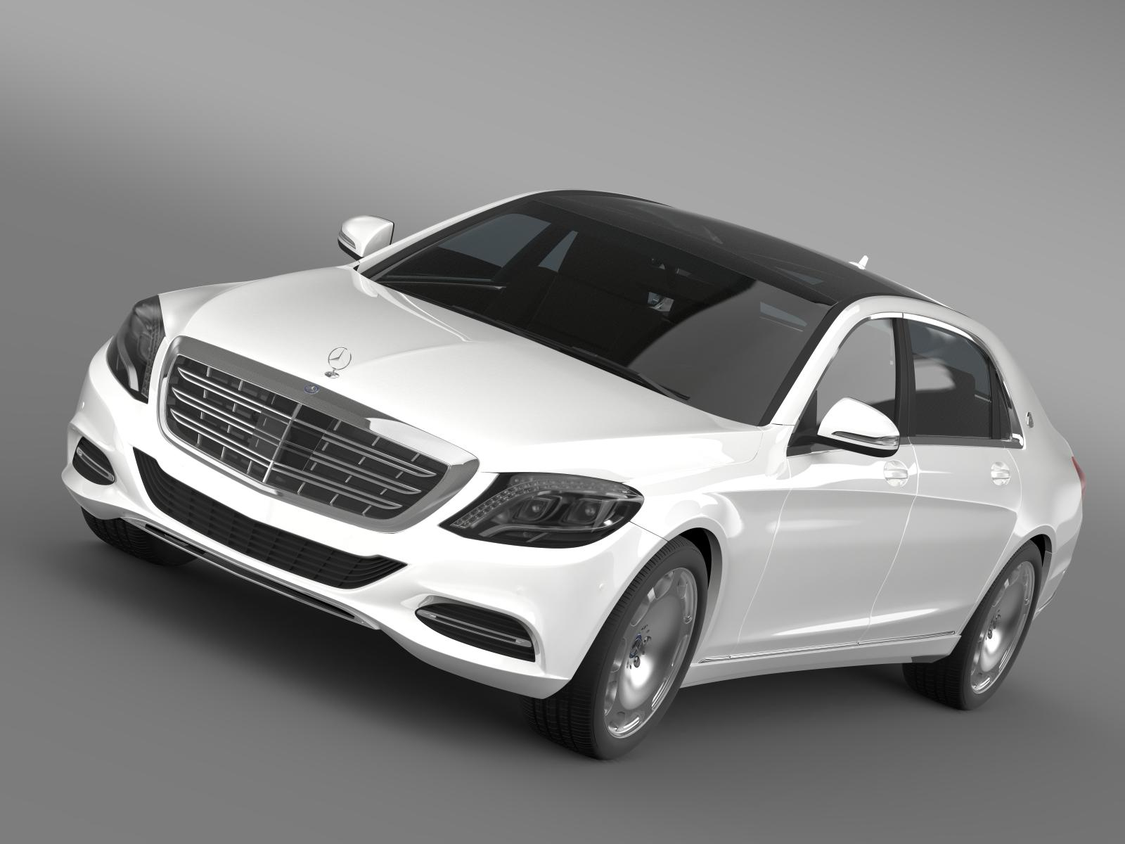 mercedes maybach s400 x222 2015 3d model 3ds max fbx c4d lwo ma mb hrc xsi obj 166116